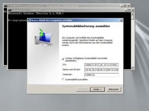 Wiedereinspielen eines Backups unter Windows Server R2